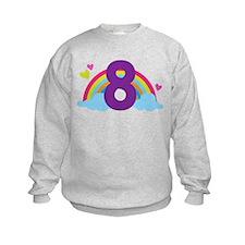 Heart Rainbow 8th Birthday Sweatshirt