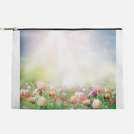 Spring Tulips Makeup Pouch