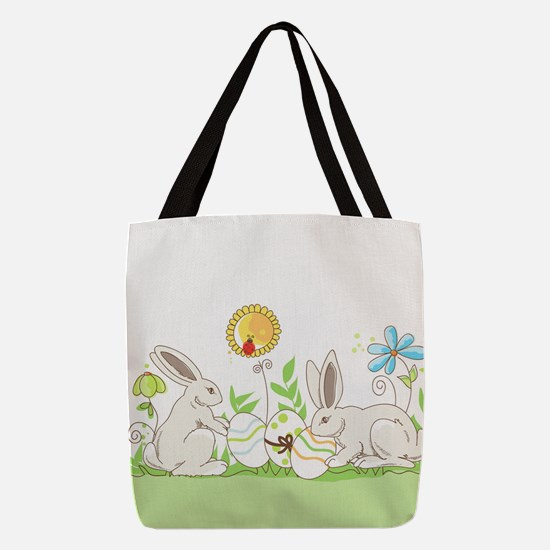 Easter Bunny Polyester Tote Bag