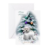 Bichon christmas Greeting Cards (20 Pack)