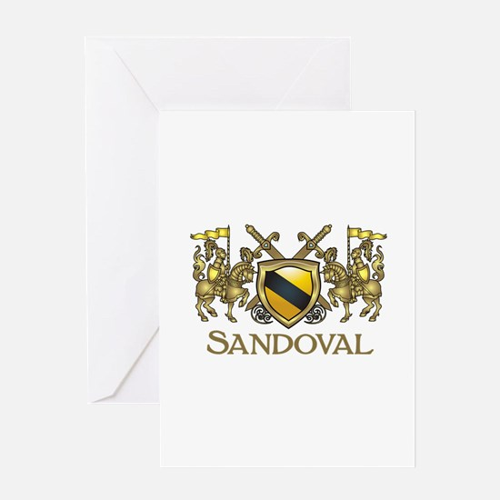 Sandoval Coat of Arms Greeting Cards