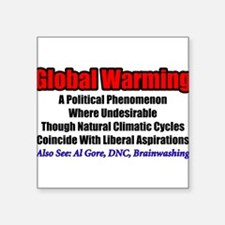 """Global Warming: A Political Phenomenon"" Sticker"