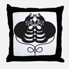 3 Black Cats - Optical Illusion Throw Pillow