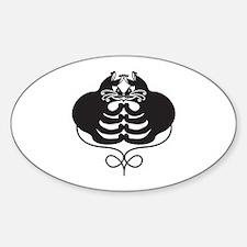 3 Black Cats - Optical Illusion Sticker (Oval)