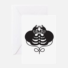 3 Black Cats - Optical Illusion Greeting Card