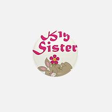 Big Sister Sweet Bunny 3 Mini Button