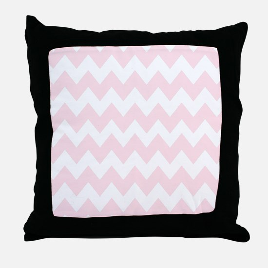 Soft pastel zig zags Throw Pillow