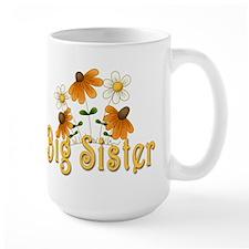 Big Sister Orange Flowers Mug