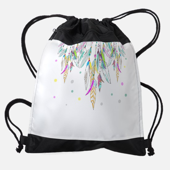 Dreamcatcher Feathers Drawstring Bag