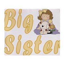Big Sister Little Friends 2 Throw Blanket