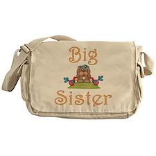 Big Sister Fluffy Pup 8 Messenger Bag