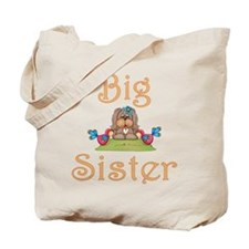 Big Sister Fluffy Pup 8 Tote Bag