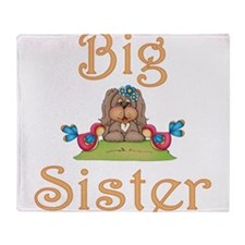 Big Sister Fluffy Pup 8 Throw Blanket