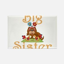 Big Sister Fluffy Pup 6 Rectangle Magnet