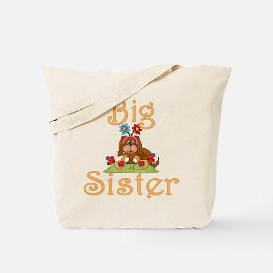 Big Sister Fluffy Pup 6 Tote Bag