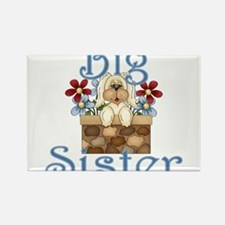 Big Sister Fluffy Pup 3 Rectangle Magnet
