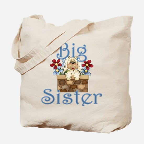 Big Sister Fluffy Pup 3 Tote Bag