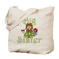 Big Sister Fluffy Pup 2 Tote Bag