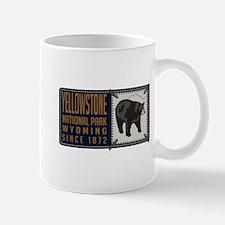 Yellowstone Black Bear Badge Mug