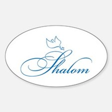 Shalom and Dove Oval Decal