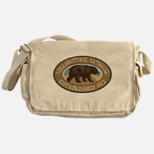 Yellowstone Brown Bear Badge Messenger Bag