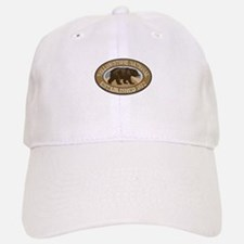 Yellowstone Brown Bear Badge Baseball Baseball Cap