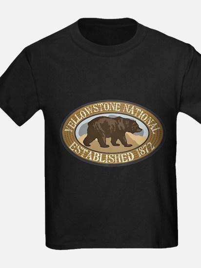 Yellowstone Brown Bear Badge T