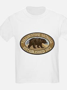 Yellowstone Brown Bear Badge T-Shirt