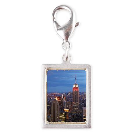 New York City Silver Portrait Charm