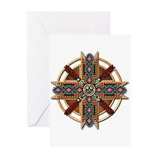 Native American Mandala 01 Greeting Card