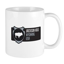 Jackson Hole Arrowhead Badge Mug