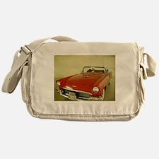 Red 1957 Ford Thunderbird Messenger Bag