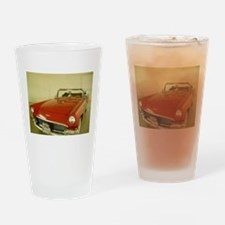 Red 1957 Ford Thunderbird Drinking Glass