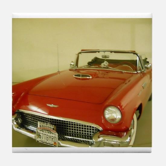 Red 1957 Ford Thunderbird Tile Coaster