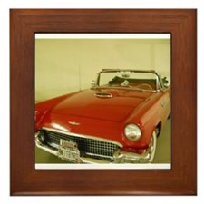 Red 1957 Ford Thunderbird Framed Tile