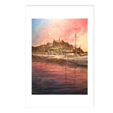 Sunset over Ibiza Old Town Postcards (Package of 8