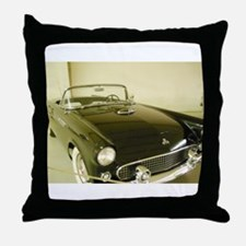 Black 1955 Ford Thunderbird Throw Pillow