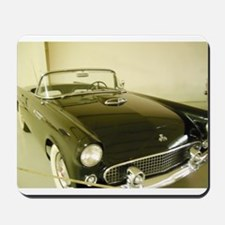 Black 1955 Ford Thunderbird Mousepad
