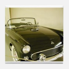 Black 1955 Ford Thunderbird Tile Coaster