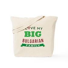 I Love My Big Bulgarian Family Tote Bag
