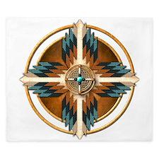 Native American Mandala 02 King Duvet