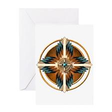 Native American Mandala 02 Greeting Card
