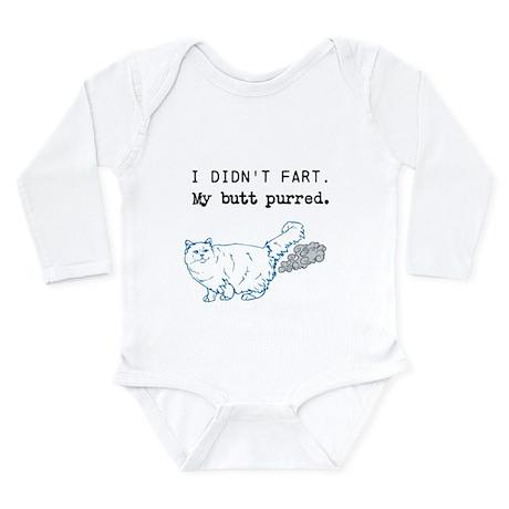 I didnt fart. Long Sleeve Infant Bodysuit
