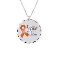 Ribbon Someone I Love MS Necklace Circle Charm
