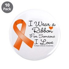 "Ribbon Someone I Love MS 3.5"" Button (10 pack)"