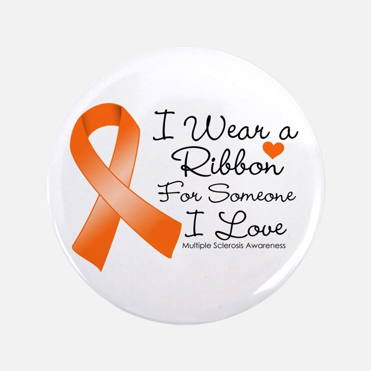 """Ribbon Someone I Love MS 3.5"""" Button (100 pack)"""