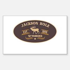 Jackson Hole Belt Buckle Badge Decal