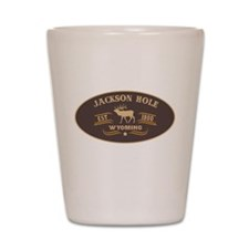 Jackson Hole Belt Buckle Badge Shot Glass
