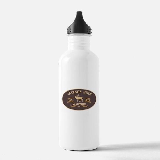 Jackson Hole Belt Buckle Badge Water Bottle