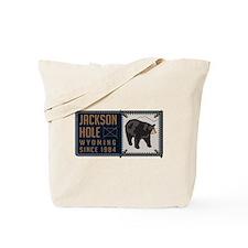 Jackson Hole Black Bear Badge Tote Bag